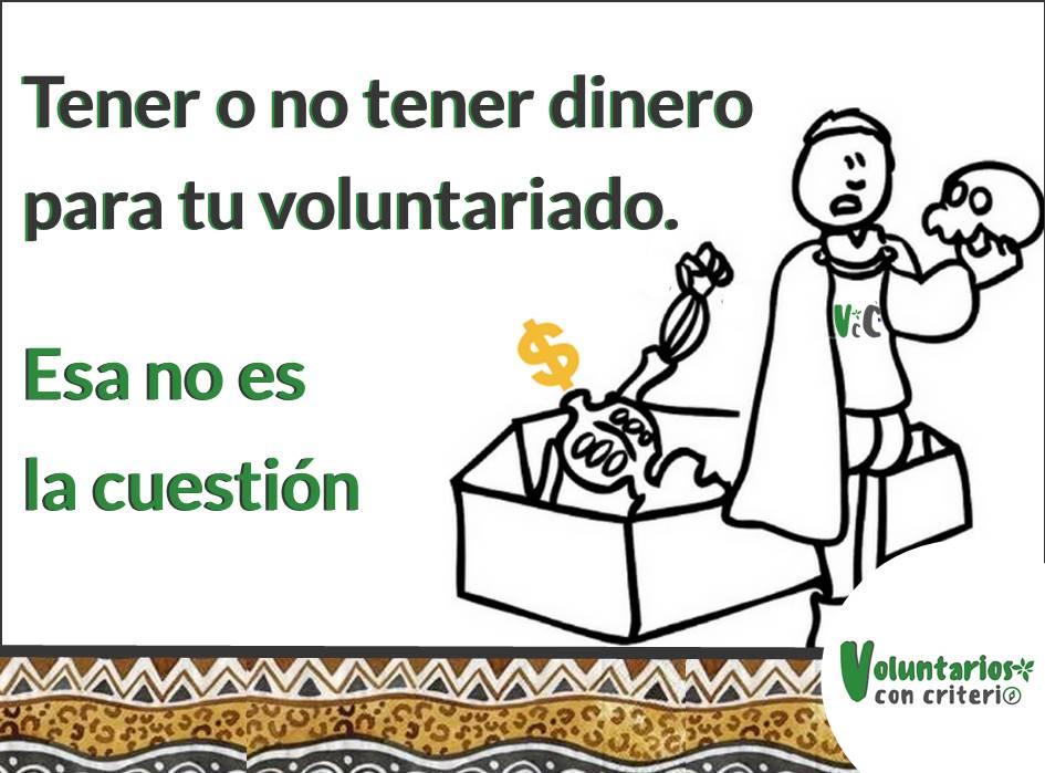 dinero para un voluntariado