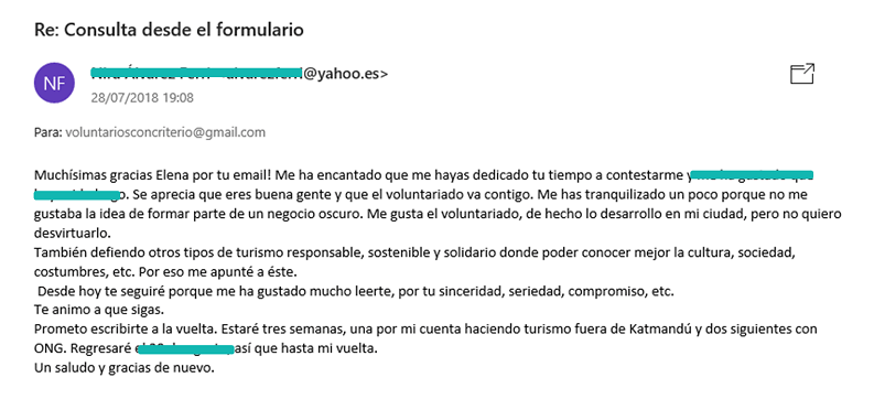 un año de blog voluntariado